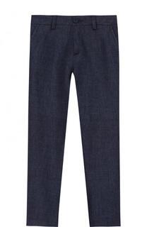 Льняные брюки прямого кроя Dal Lago