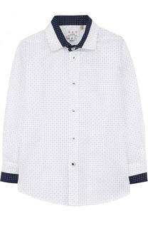 Хлопковая рубашка с контрастной отделкой Aletta