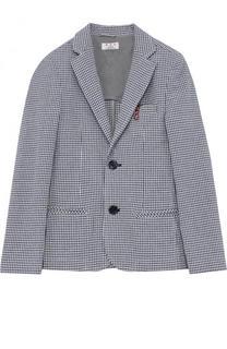 Однобортный пиджак из смеси хлопка и льна Aletta