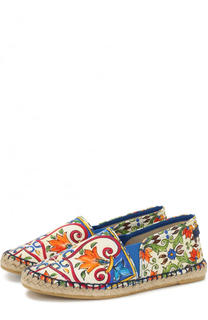 Текстильные эспадрильи с принтом Dolce & Gabbana