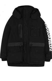 Куртка с капюшоном и накладными карманами Dsquared2