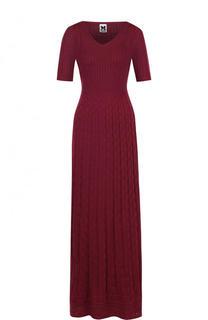 Вязаный платье-макси с коротким рукавом M Missoni