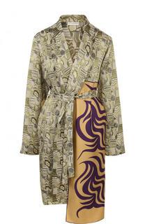 Пальто асимметричного кроя с поясом Dries Van Noten