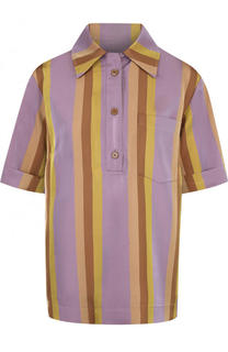 Блуза в полоску с коротким рукавом Dries Van Noten