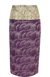 Шелковая юбка-карандаш с разрезом Dries Van Noten