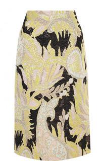 Жаккардовая юбка-миди с принтом Dries Van Noten