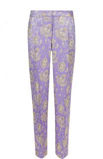 Укороченные жаккардовые брюки с принтом Dries Van Noten