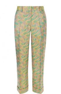 Укороченные жаккардовые брюки со стрелками и карманами Dries Van Noten