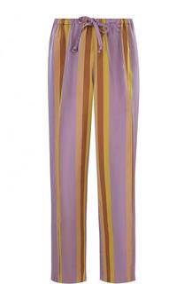 Укороченные брюки с эластичным поясом и стрелками Dries Van Noten