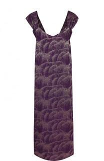 Шелковое платье-миди без рукавов Dries Van Noten