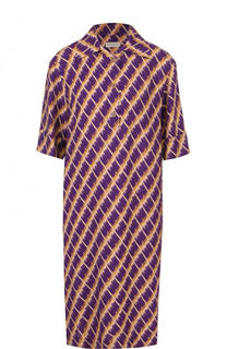 Платье-рубашка с коротким рукавом и принтом Dries Van Noten