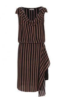 Приталенное шелковое платье без рукавов Dries Van Noten