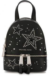 Кожаный рюкзак Rhea Zip XS с заклепками MICHAEL Michael Kors