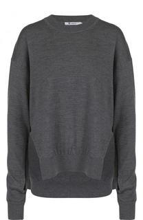 Шерстяной пуловер свободного кроя с круглым вырезом T by Alexander Wang