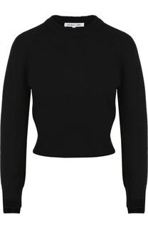 Однотонный кашемировый пуловер с круглым вырезом Helmut Lang