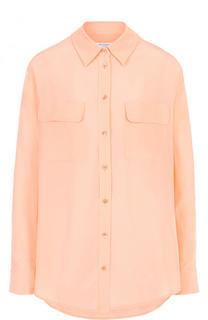 Шелковая блуза свободного кроя с накладными карманами Equipment