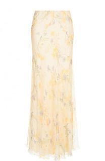 Шелковая юбка-макси с принтом Ralph Lauren