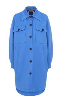Пальто свободного кроя из смеси шерсти и кашемира No. 21