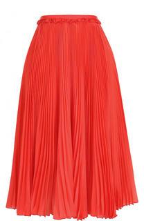 Однотонная плиссированная юбка-миди Rochas