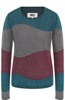 Вязаный пуловер с круглым вырезом Mm6