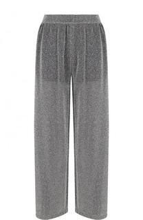 Широкие брюки с металлической нитью и эластичным поясом Mm6
