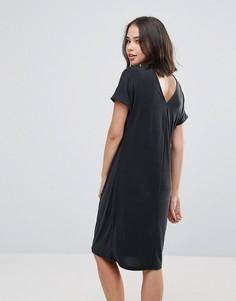 Драпированное платье с вырезом на спине Soaked in Luxury - Черный