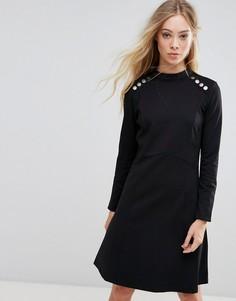Платье с пуговицами b.Young - Черный