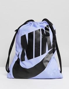 Сиреневая сумка с затягивающимся шнурком Nike - Фиолетовый