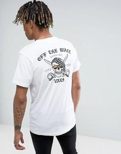 Белая футболка с принтом Vans Pirate Days VA31DYWHT - Белый