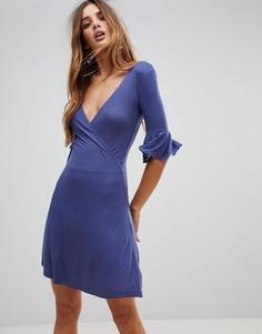 Платье с запахом Brave Soul Holly - Темно-синий