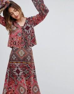 Блузка с принтом Raga - Красный