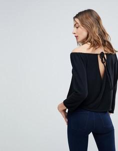 Топ с открытыми плечами и спиной NYTT Nina - Черный