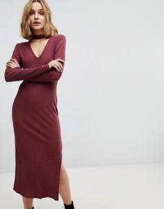 Платье миди с чокером NYTT - Красный