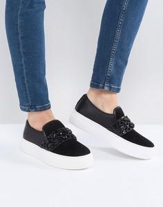 Черные декорированные кроссовки ALDO Caperana - Черный