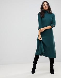 Платье-джемпер миди с бантом Traffic People - Зеленый