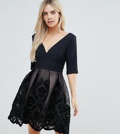 Платье мини с аппликацией Little Mistress Petite - Черный