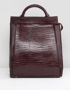 Рюкзак из искусственной крокодиловой кожи Liquorish - Красный