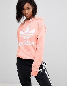 Худи кораллового цвета adidas Originals X Pharrell Williams Hu - Розовый