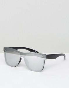 Квадратные солнцезащитные очки с зеркальной оправой и стеклами ASOS - Серебряный
