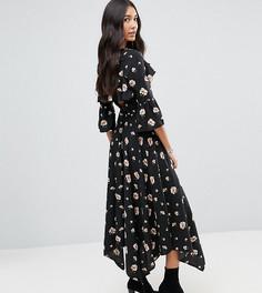 Чайное платье с открытой спиной Influence Tall - Черный