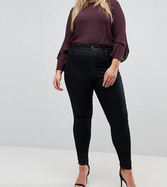 Черные джинсы скинни с покрытием ASOS CURVE SCULPT ME - Черный