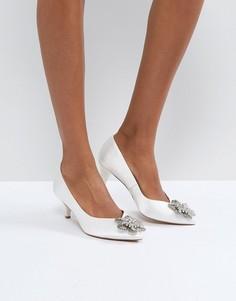 Свадебные туфли на каблуке-рюмочке с отделкой ASOS SOYA - Кремовый