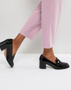 Лоферы на среднем каблуке ASOS ONYX - Черный