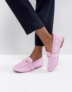 Кожаные лоферы ASOS MOVEMENT - Розовый
