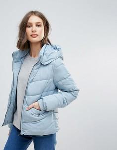 Короткая стеганая куртка Only - Синий