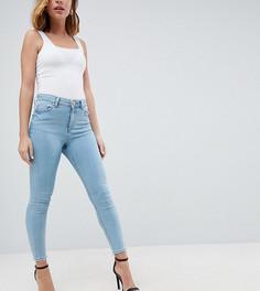 Выбеленные джинсы скинни с завышенной талией ASOS PETITE RIDLEY - Синий