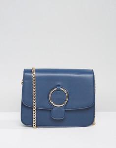 Сумка через плечо с декоративным кольцом Qupid - Темно-синий
