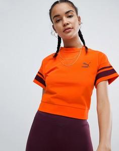 Оранжевая футболка с окантовкой Puma - Оранжевый