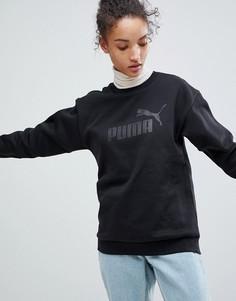 Черный свитшот с логотипом Puma Essentials - Черный