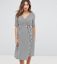 Платье миди с запахом и геометрическим принтом Bluebelle Maternity - Мульти